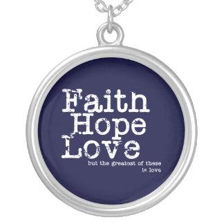 Vintage Faith Hope Love Necklace