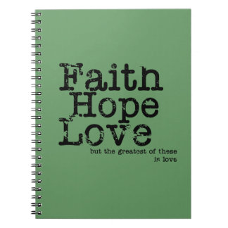 Vintage Faith Hope Love Notebook