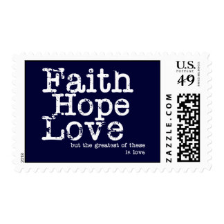 Vintage Faith Hope Love Postage Stamps