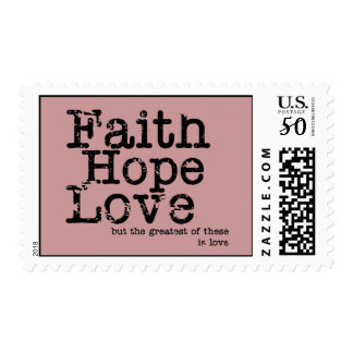 Vintage Faith Hope Love Postage Stamps