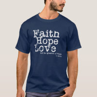 Vintage Faith Hope Love T-Shirt