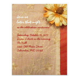 VINTAGE FALL BEAUTY Bat Mitzvah Party Card