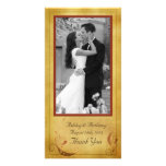 Vintage Fall Country Rustic Floral Wedding Card