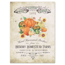 VINTAGE FALL FARMERS MARKET POSTER TISSUE PAPER