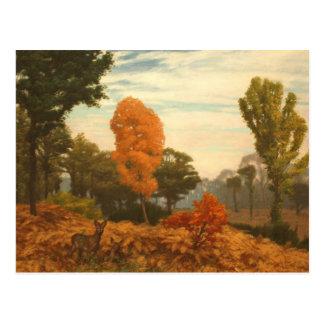 Vintage Fall Painting Postcard