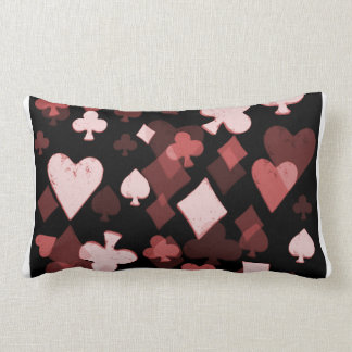 Vintage Falling Card Suits Collage - Mad Hatter's Pillow