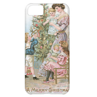 Vintage Family around Christmas Tree iPhone 5C Case