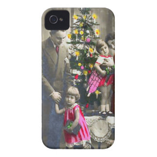 Vintage family Christmas iPhone 4 Case