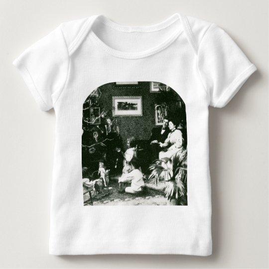 Vintage Family Christmas - Stereoview Baby T-Shirt
