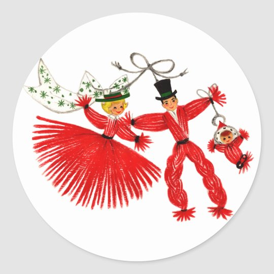 Vintage Family Christmas Sticker
