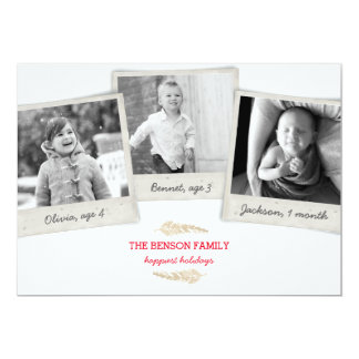 Vintage Family Collage Holiday Photo Card