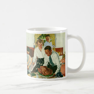 Vintage Family Cooking Thanksgiving Dinner Kitchen Coffee Mug