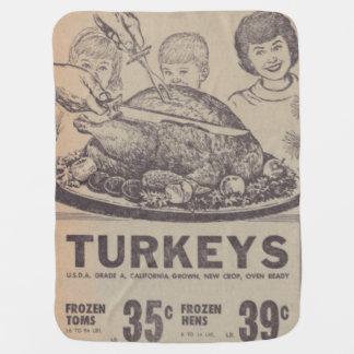 Vintage Family Dinner Baby Blanket