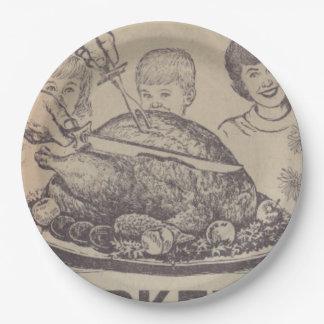 Vintage Family Dinner Paper Plate