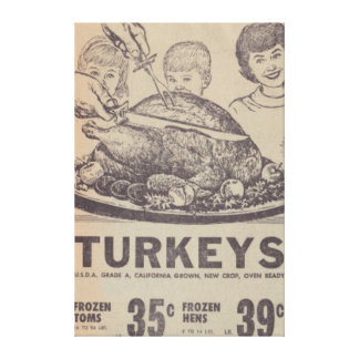 Vintage Family Dinner Stretched Canvas Stretched Canvas Prints