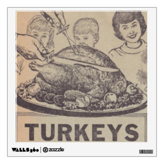Vintage Family Dinner Wall Decal