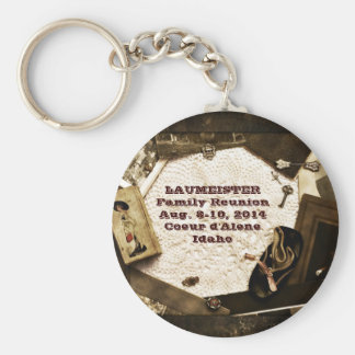 Vintage Family Heirlooms Family Reunion Basic Round Button Keychain