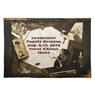 Vintage Family Heirlooms Family Reunion Cloth Placemat