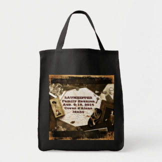 Vintage Family Heirlooms Family Reunion Grocery Tote Bag