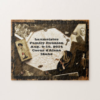 Vintage Family Heirlooms Family Reunion Jigsaw Puzzle