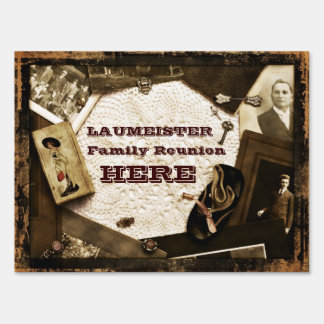 Vintage Family Heirlooms Family Reunion Lawn Sign