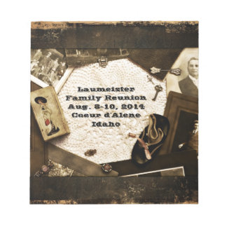 Vintage Family Heirlooms Family Reunion Notepad