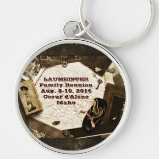 Vintage Family Heirlooms Family Reunion Silver-Colored Round Keychain