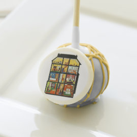 Vintage Family Home Housewarming Party Cake Pops