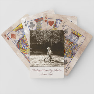Vintage Family Photo Customized Playing Cards