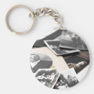 Vintage Family Photographs Basic Round Button Keychain