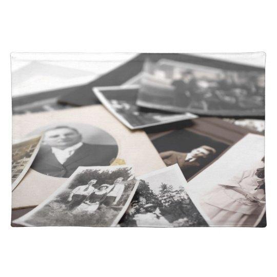 Vintage Family Photographs Placemat