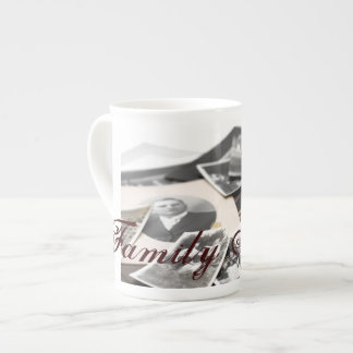 Vintage Family Photographs Tea Cup