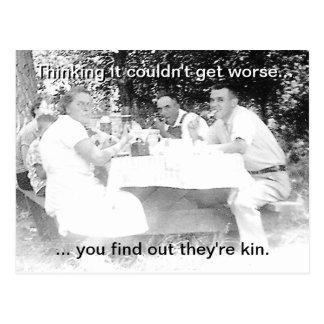 Vintage Family Picnic Postcard