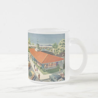 Vintage Family Restaurant with Customers Mugs