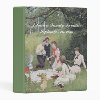 Vintage Family Reunion at Picnic in Grass Mini Binder