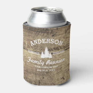 Vintage Family Reunion or Trip | Rustic Wood Trees Can Cooler