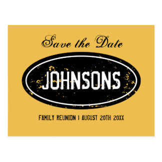 Vintage family reunion save the date postcards