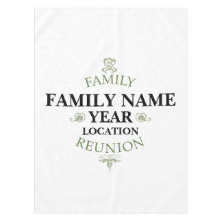 Vintage Family Reunion Tablecloth