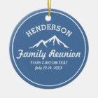 Vintage Family Reunion Trip Cool Mountain Peaks Ceramic Ornament