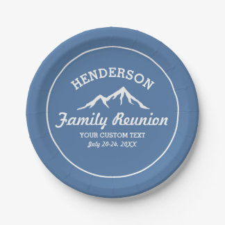 Vintage Family Reunion Trip Cool Mountain Peaks Paper Plate