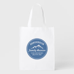 Vintage Family Reunion Trip Cool Mountain Peaks Reusable Grocery Bag