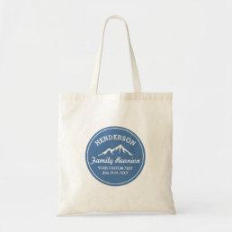 Vintage Family Reunion Trip Cool Mountain Peaks Tote Bag