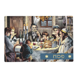 Vintage Family Seder Scene Passover Placemats Laminated Placemat