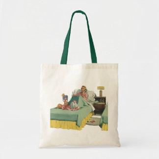 Vintage Family Serving Mom Breakfast in Bed Tote Bag