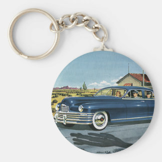 Vintage Family Travel, Last Chance Gas Station Keychain