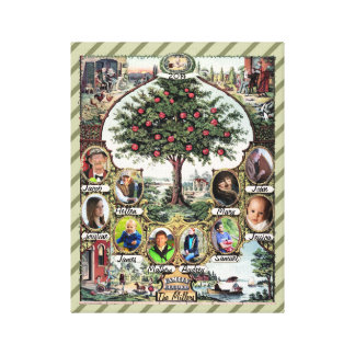 Vintage Family Tree Canvas Print