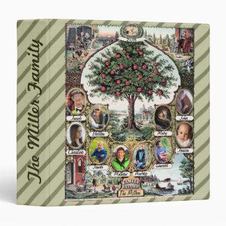 Vintage Family Tree Vinyl Binder