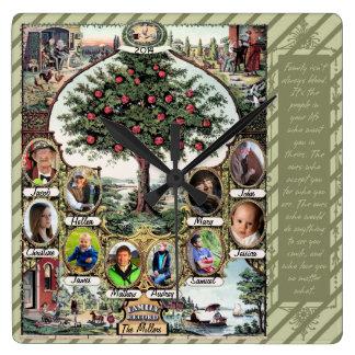 Vintage Family Tree Wallclocks