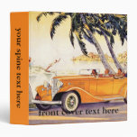 Vintage Family Vacation in a Convertible Car 3 Ring Binders