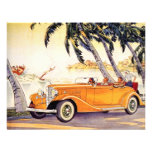 Vintage Family Vacation in a Convertible Car Custom Invitation